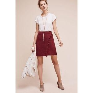 New Anthropologie Fringed Arnhem Sweater Skirt